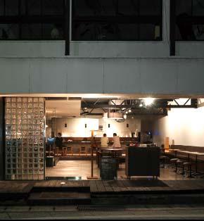 旅館に併設された和モダンテイストのカフェ。