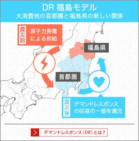 DR福島モデル 大消費地の首都圏と福島県の新しい関係
